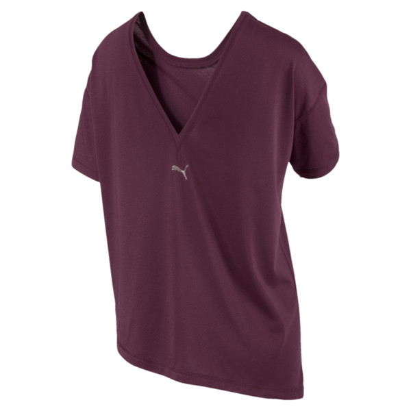 Holiday Drapey Women's Tee, Fig, large