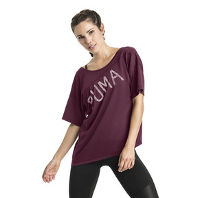 Thumbnail 2 of Holiday Drapey Women's Tee, Fig, medium