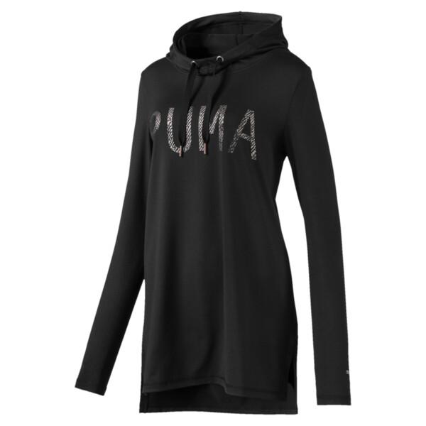 Vestido con capucha Holiday, Puma Black, grande