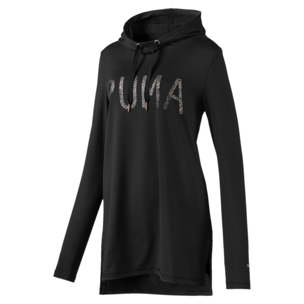 Holiday Hooded Dress, Puma Black, large