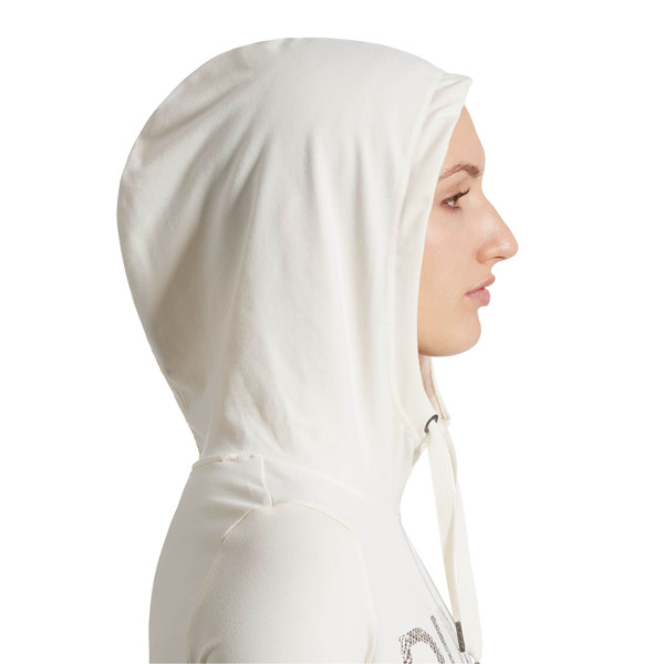 Holiday Hooded Dress, Whisper White, large