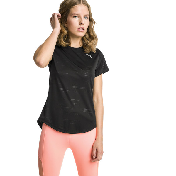T-Shirt IGNITE Graphic Running pour femme, Puma Black, large