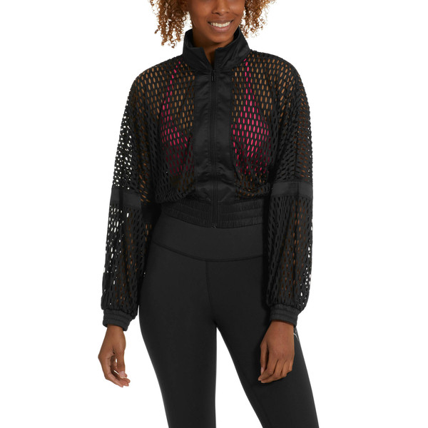 On the Brink Women's Knit Jacket, Puma Black, large