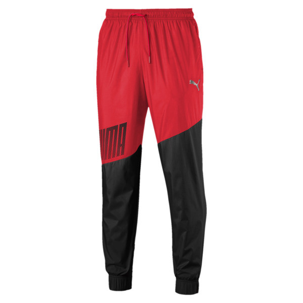 A.C.E. Men's Woven Trackster, High Risk Red-Puma Black, large