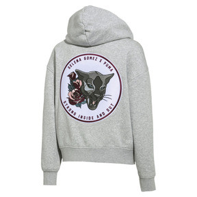 Thumbnail 8 of SG x PUMA Full Zip Hoodie, Light Gray Heather, medium