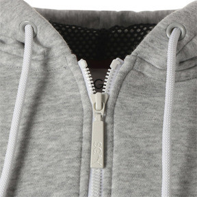 Thumbnail 12 of SG x PUMA WOMEN'S FULL ZIP HOODIE, Light Gray Heather, medium-JPN