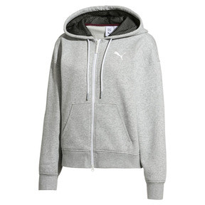 Thumbnail 7 of SG x PUMA WOMEN'S FULL ZIP HOODIE, Light Gray Heather, medium-JPN