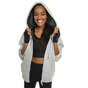Thumbnail 1 of Sweat à capuche PUMA x SELENA GOMEZ pour femme, Light Gray Heather, medium