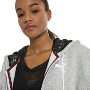 Thumbnail 4 of SG x PUMA WOMEN'S FULL ZIP HOODIE, Light Gray Heather, medium-JPN