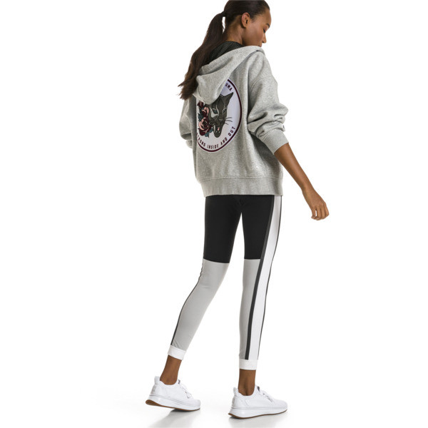 Sudadera con capucha de training de mujer PUMA x SELENA GOMEZ, Light Gray Heather, grande