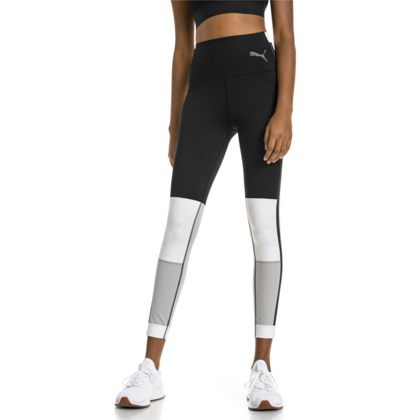 PUMA x SELENA GOMEZ Women's 7/8 Training Leggings, Puma Black-White-High Rise, large