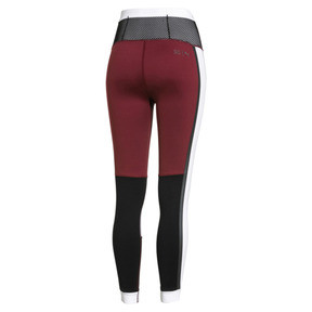 Thumbnail 4 of PUMA x SELENA GOMEZ Women's 7/8 Training Leggings, Cordovan-White-Black, medium