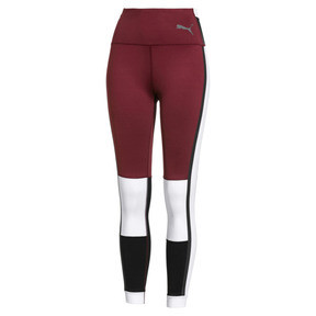 Thumbnail 1 of PUMA x SELENA GOMEZ Damen 7/8 Training Leggings, Cordovan-White-Black, medium
