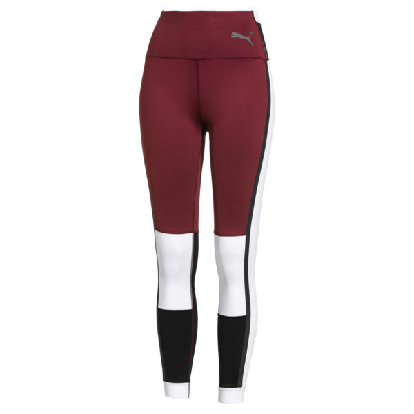 SG x PUMA 7/8 Leggings, Cordovan-White-Black, large
