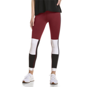 Thumbnail 2 of PUMA x SELENA GOMEZ Women's 7/8 Training Leggings, Cordovan-White-Black, medium