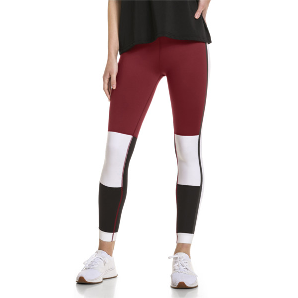 PUMA x SELENA GOMEZ Women's 7/8 Training Leggings, Cordovan-White-Black, large