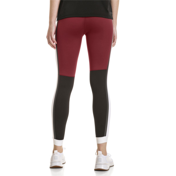 46c841348b3034 PUMA x SELENA GOMEZ Women's 7/8 Training Leggings, Cordovan-White-Black