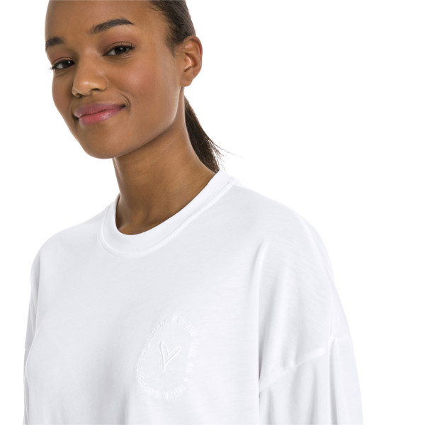 PUMA x SELENA GOMEZ Women's Training Tee, Puma White, large