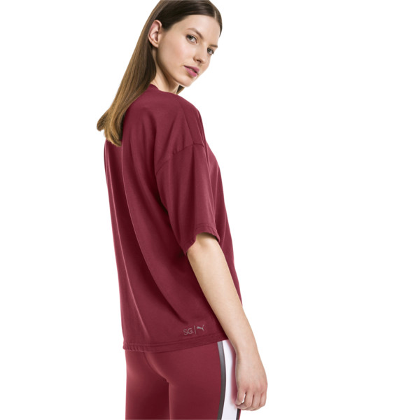 Camiseta de training de mujer PUMA x SELENA GOMEZ, Cordovan, grande