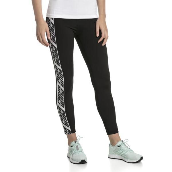 a51e6451a024a Feel It Women's Training Leggings, Puma Black-with White tape, large-SEA