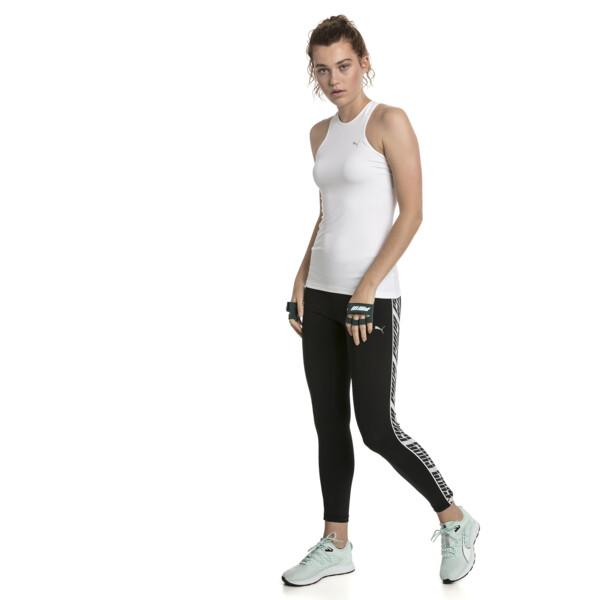 Feel It Women's 7/8 Leggings, Puma Black-with White tape, large