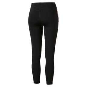 Thumbnail 3 of Feel It Women's 7/8 Leggings, Black-with Bright Peach tape, medium