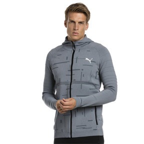 Thumbnail 1 of Energy evoKNIT Herren Training Kapuzenjacke, medium gray heather, medium