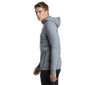 Thumbnail 2 of Energy evoKNIT Herren Training Kapuzenjacke, medium gray heather, medium