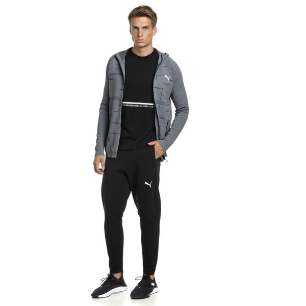 Energy evoKNIT Herren Training Kapuzenjacke, medium gray heather, large