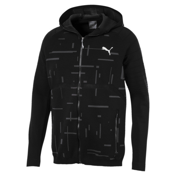 Energy evoKNIT Full Zip Men's Training Hoodie, puma black, large
