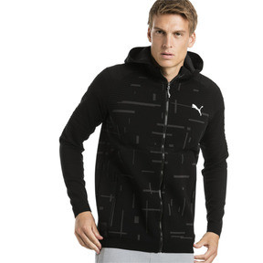 Thumbnail 1 of Energy evoKNIT Full Zip Men's Training Hoodie, puma black, medium