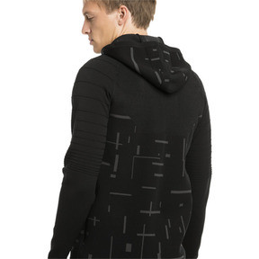 Thumbnail 2 of Energy evoKNIT Full Zip Men's Training Hoodie, puma black, medium