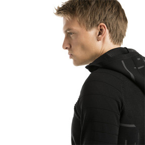Thumbnail 4 of Energy evoKNIT Full Zip Men's Training Hoodie, puma black, medium
