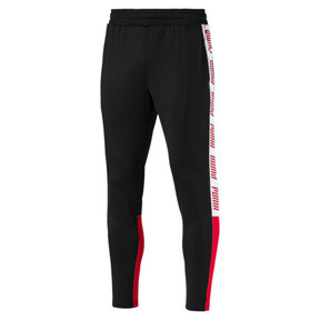 Thumbnail 1 of A.C.E. Men's Track Pants, Black-High Risk Red-White, medium