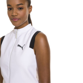 Thumbnail 1 of PUMA x SELENA GOMEZ Cropped Sleeveless Zip-Up Women's Training Top, Puma White, medium