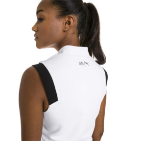 Thumbnail 2 of PUMA x SELENA GOMEZ Cropped Sleeveless Zip-Up Women's Training Top, Puma White, medium
