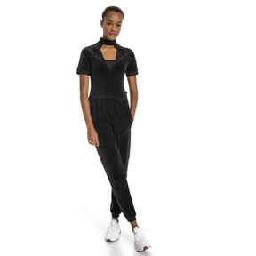 Thumbnail 1 of PUMA x SELENA GOMEZ Women's Training Jumpsuit, Puma Black, medium