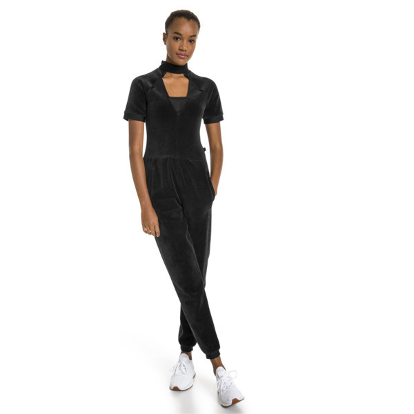 PUMA x SELENA GOMEZ Women's Training Jumpsuit, Puma Black, large