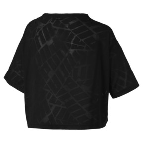 Thumbnail 4 of ショーオフ SS ウィメンズ Tシャツ 半袖, puma black Heather, medium-JPN