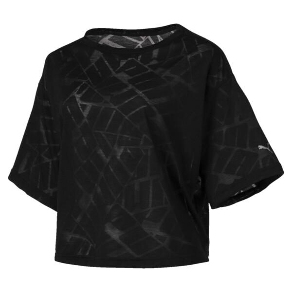 ショーオフ SS ウィメンズ Tシャツ 半袖, puma black Heather, large-JPN