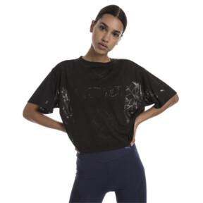 Thumbnail 2 of ショーオフ SS ウィメンズ Tシャツ 半袖, puma black Heather, medium-JPN