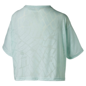 Thumbnail 4 of ショーオフ SS ウィメンズ Tシャツ, fair aqua Heather, medium-JPN