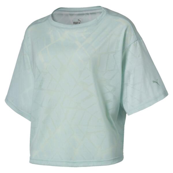 ショーオフ SS ウィメンズ Tシャツ, fair aqua Heather, large-JPN