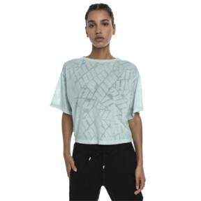 Thumbnail 2 of ショーオフ SS ウィメンズ Tシャツ, fair aqua Heather, medium-JPN