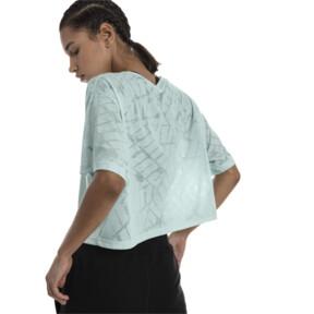 Thumbnail 3 of ショーオフ SS ウィメンズ Tシャツ, fair aqua Heather, medium-JPN