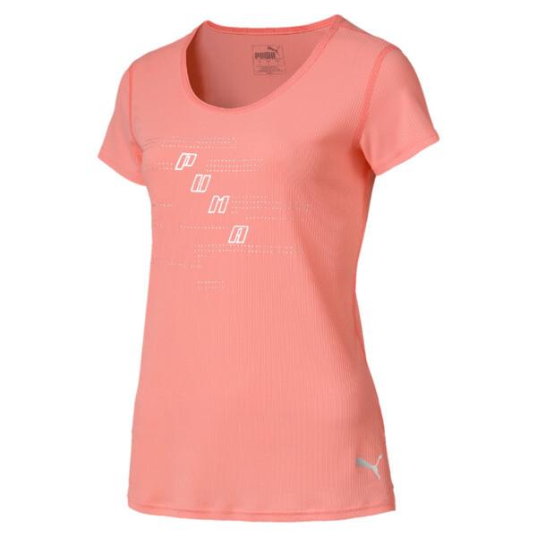 イグナイト SS ロゴ ウィメンズ Tシャツ 半袖, Bright Peach, large-JPN