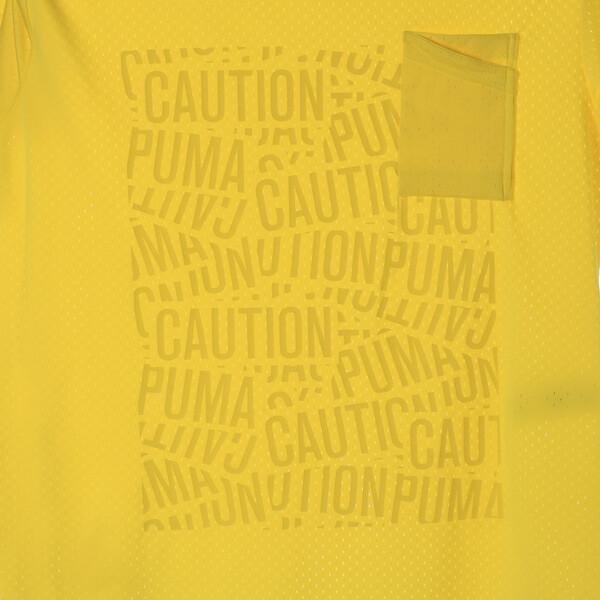 コーション SS グラフィック Tシャツ 半袖, Blazing Yellow, large-JPN
