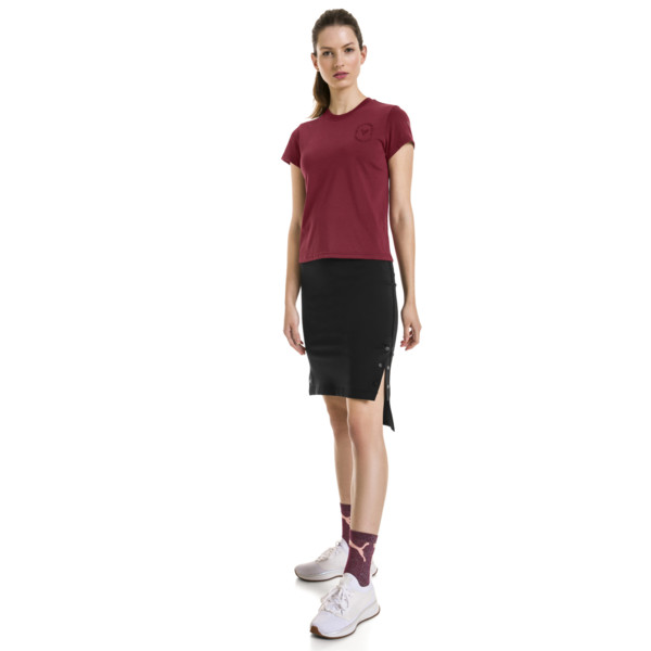 PUMA x SELENA GOMEZ Fitted Women's Training Tee, Cordovan, large