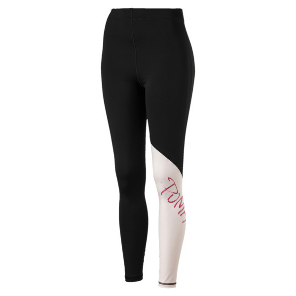 Sweet Women's 7/8 Leggings, Puma Black-Barely Pink, large