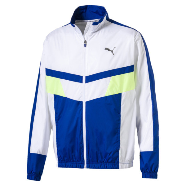 Retro Men's Woven Jacket, Puma White-Surf The Web, large